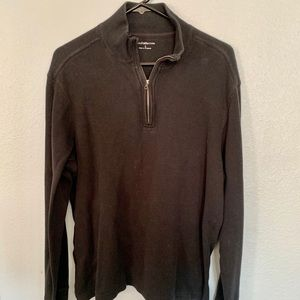 Croft and Barrow 1/4 Zip Black Sweater EOC